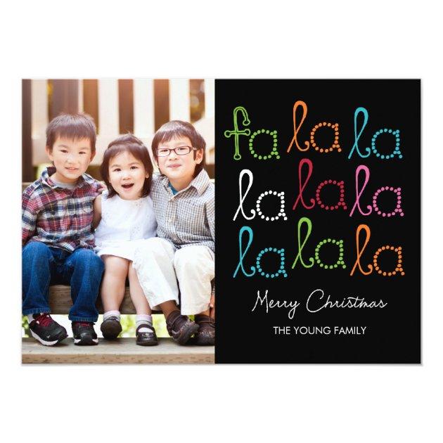Fa La La Holiday Photo Cards