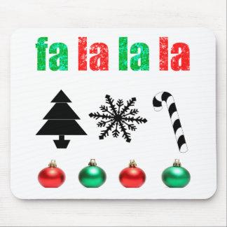 fa la la la Christmas Mouse Pad