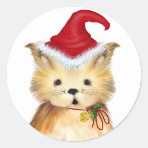 ...Fa-La-La-La-La Christmas Kitten Stickers