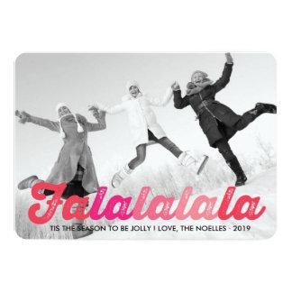 Fa La La La La Christmas Photo Holiday Greetings 5x7 Paper Invitation Card