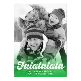 Fa La La La La Christmas Photo Holiday Greetings Personalized Announcement