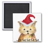 ...Fa-La-La-La-La Kitten Christmas Magnet
