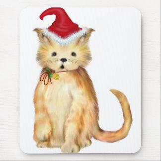 ....Fa-La-La-La-La Kitten Christmas Mousepad