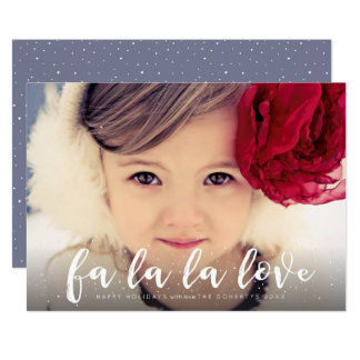 Fa La La La Love Christmas Photo Greeting Card