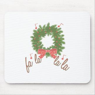Fa La La La Wreath Mouse Pad