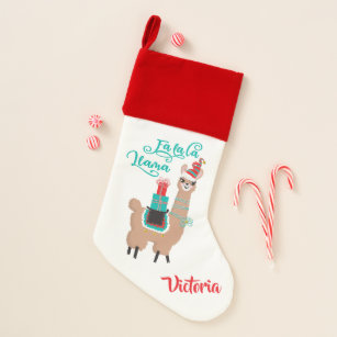 fa la la llama christmas stocking - Llama Christmas Decoration