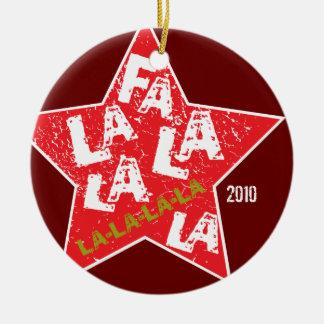 Fa La La Star Powered Ornament