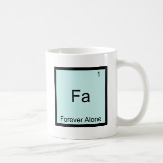 Fa - Para siempre solamente química divertida de M Taza Básica Blanca