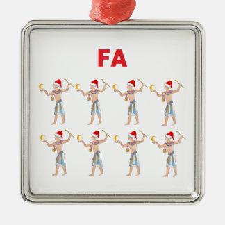 Fa Ra Ra Ra Ra Metal Ornament