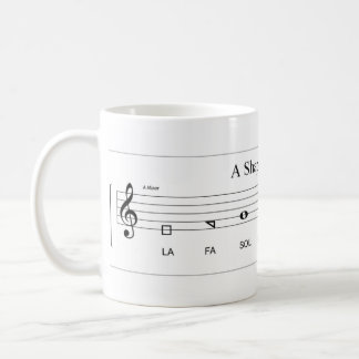 'Fa so la' shape-note minor scale The Sacred Harp Coffee Mug