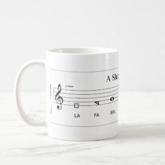 'Fa so la' shape-note minor scale The Sacred Harp Coffee Mug