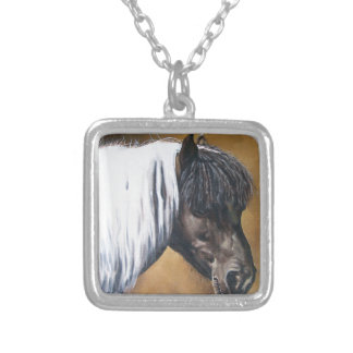 FAA-AfroPony Silver Plated Necklace