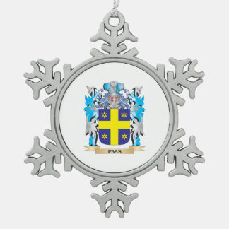 Faas Coat of Arms - Family Crest Snowflake Pewter Christmas Ornament