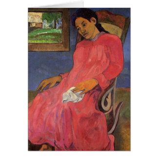 'Faaturuma (Melancholy)' - Paul Gauguin Card