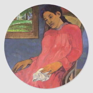 'Faaturuma (Melancholy)' - Paul Gauguin Sticker