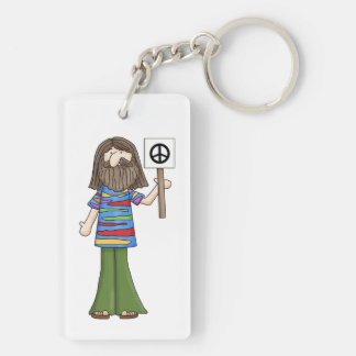 FAB 1960 Hippie / Peace Sign 2-Sided Keychain