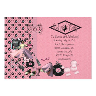 Fab 50's Party Invitations