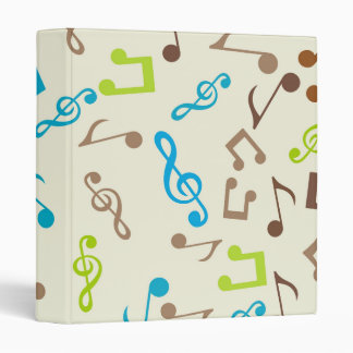 Fab Blue & Green Music Notes Binders