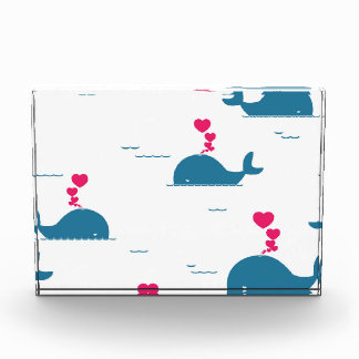 Fab Blue Whale Design With Hearts Award