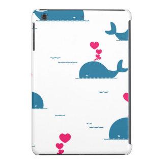 Fab Blue Whale Design With Hearts iPad Mini Case