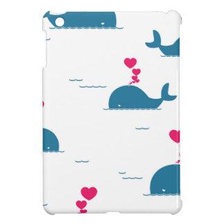 Fab Blue Whale Design With Hearts iPad Mini Cover