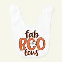 Fab Boo Lous Ghost Halloween Baby Bib