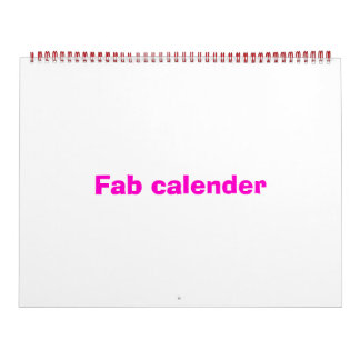 Fab calender calendar