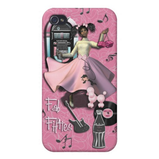 Fab Fifties Cases For iPhone 4