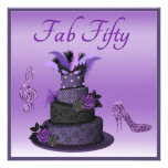 Fab Fifty Purple Diva Cake, Sparkle High Heels Announcements
