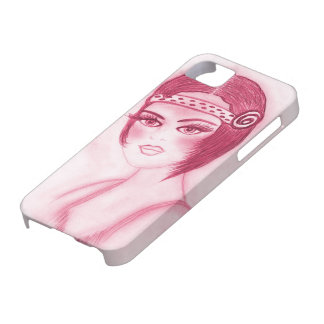 Fab Flapper Girl in Red iPhone SE/5/5s Case