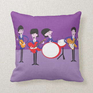 Fab Four Shag Pillow w/ artwork by Lori Elberg