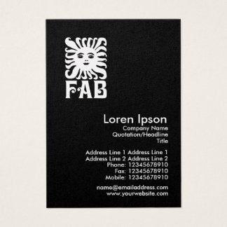 Fab - Gold Business Card
