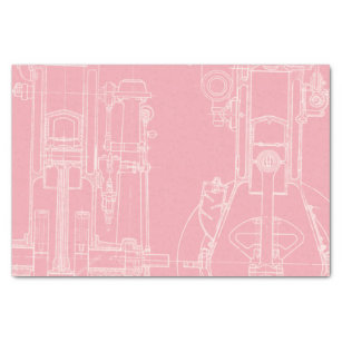 Blueprint craft tissue paper zazzle fab mechanical drawing blueprint your custom color tissue paper malvernweather Gallery