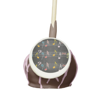 Fab Music Notes on Black Cake Pops