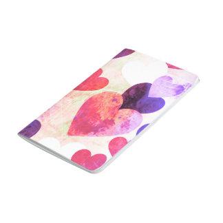 Fab Pink & Purple Grungy Hearts Design Journal