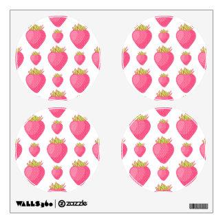 Fab Strawberry Cartoon Design Room Stickers