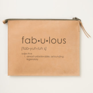 Fab•u•lous Leather Travel Pouch