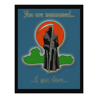 Fab YOU ARE SUMMONED Spooky Party Invitations Flyer
