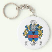 Fabbri Family Crest Keychain