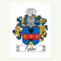 Fabbri Family Crest Postcard