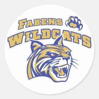 Fabens Wildcats 2014 Classic Round Sticker