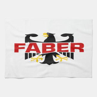 Faber Surname Towels