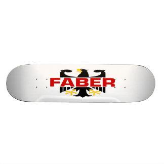 Faber Surname Skate Board Deck