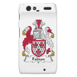 Fabian Family Crest Motorola Droid RAZR Cases