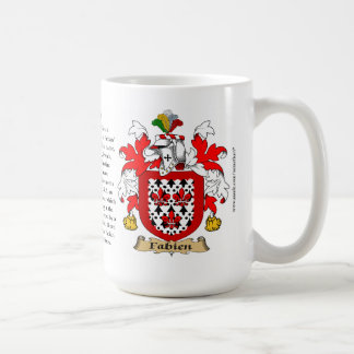 Fabian, the Origin, the Meaning and the Crest Classic White Coffee Mug