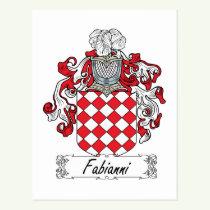 Fabianni Family Crest Postcard