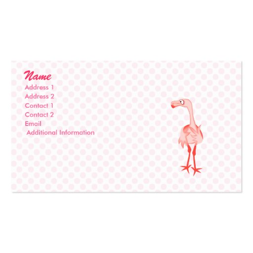 Fabiola Flamingo Double-Sided Standard Business Cards (Pack Of 100)
