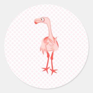 Fabiola Flamingo Classic Round Sticker