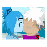Fable and Blue Kiss Postcard
