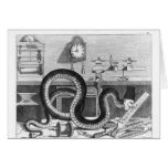 Fable of the Snake and the Files Greeting Card